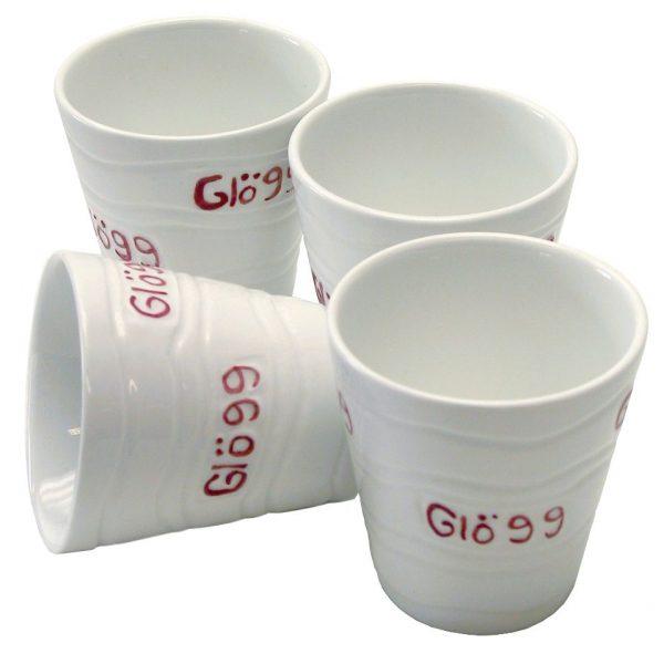 Dorre glöggmugg keramik 4-pack