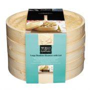 World of Flavours Ångkokare två lager bambu 2