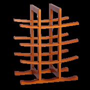 RTA vinställ 12 flaskor bambu natur1
