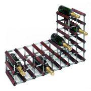 wnrk0060-30_bottle_flexi_wine_rack-dark_pine-galv_steel-side_and_upright-ws