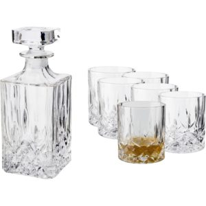 Dorre Whiskykaraff kristall med 6 glas