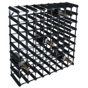 RTA Vinställ 72 flaskor svart trä