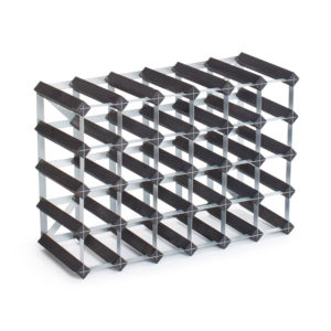 Traditional Wine Racks Vinställ 30 Flaskor Black Ash