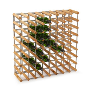Traditional Wine Racks Vinställ 72 Flaskor Light Oak