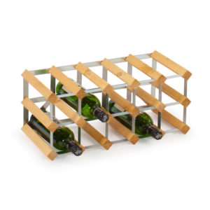 Traditional Wine Racks Vinställ 15 Flaskor Light Oak