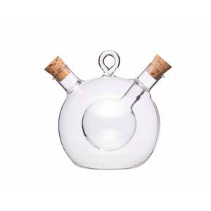 KitchenCraft Olja- och vinägerflaska rund